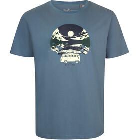 Elkline Einsteigen t-shirt Heren blauw